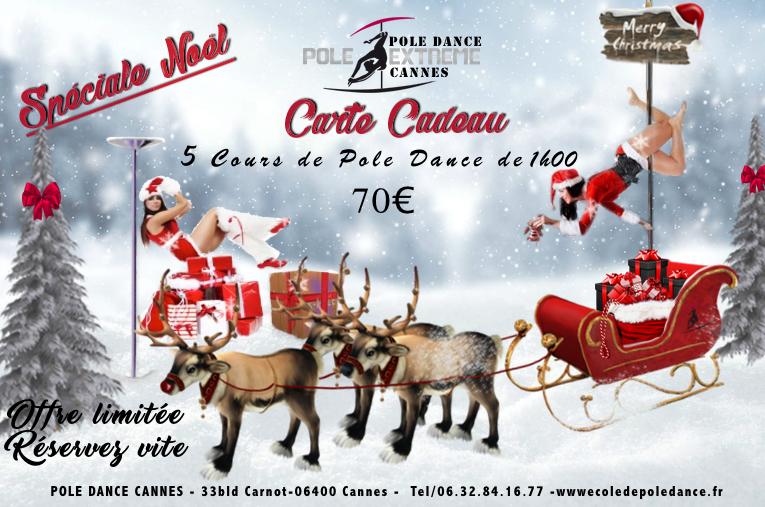 Pole Dance - Carte Cadeau - 5 cours